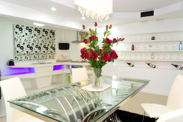 White Elegance with a Modern Touch