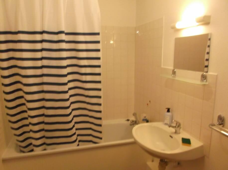 Deux salles de bain à disposition!