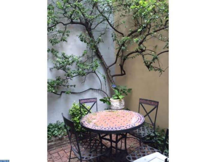 Garden patio!