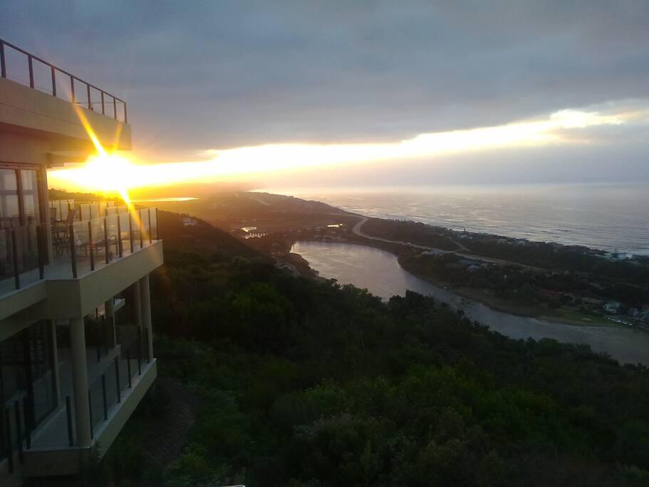 Sunrise over the Touw River.