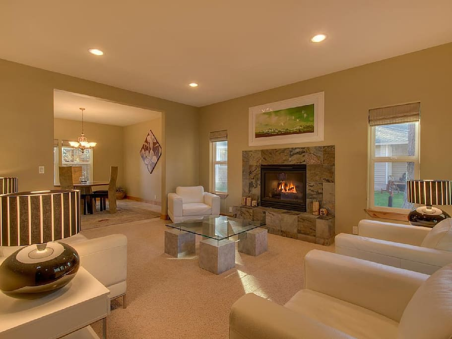 Formal living room with fireplace.