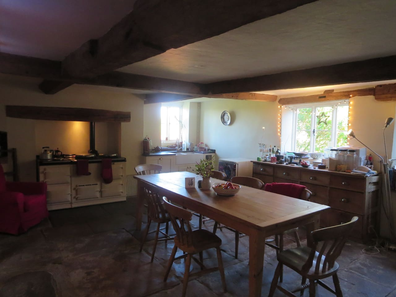 Kitchen from hall doorway.