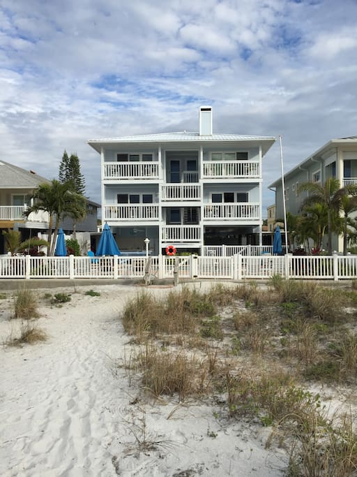 This is our place. Charming 4 unit complex on the beach. Our unit is on the bottom left.