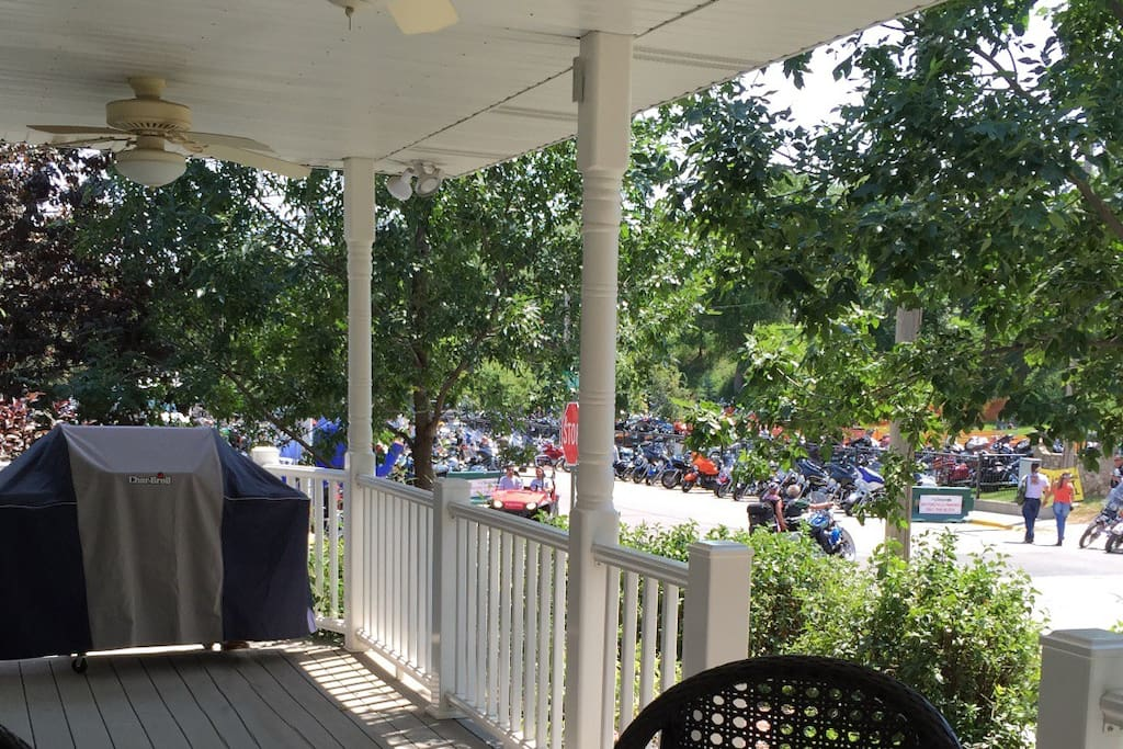 View from Front Porch during Motorcycle Rally
