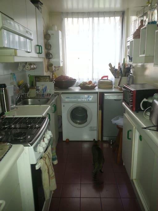 Cocina amplia y equipada