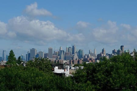 Skyline views in Brooklyn + patio!