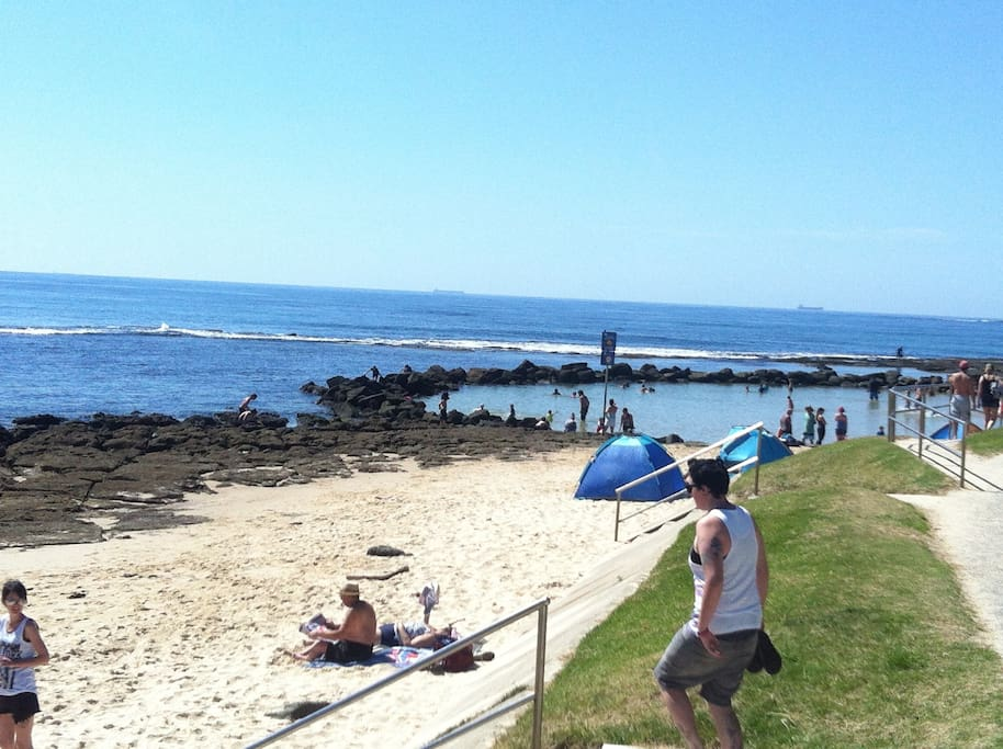 Safe rock pool at the end of street for all to enjoy