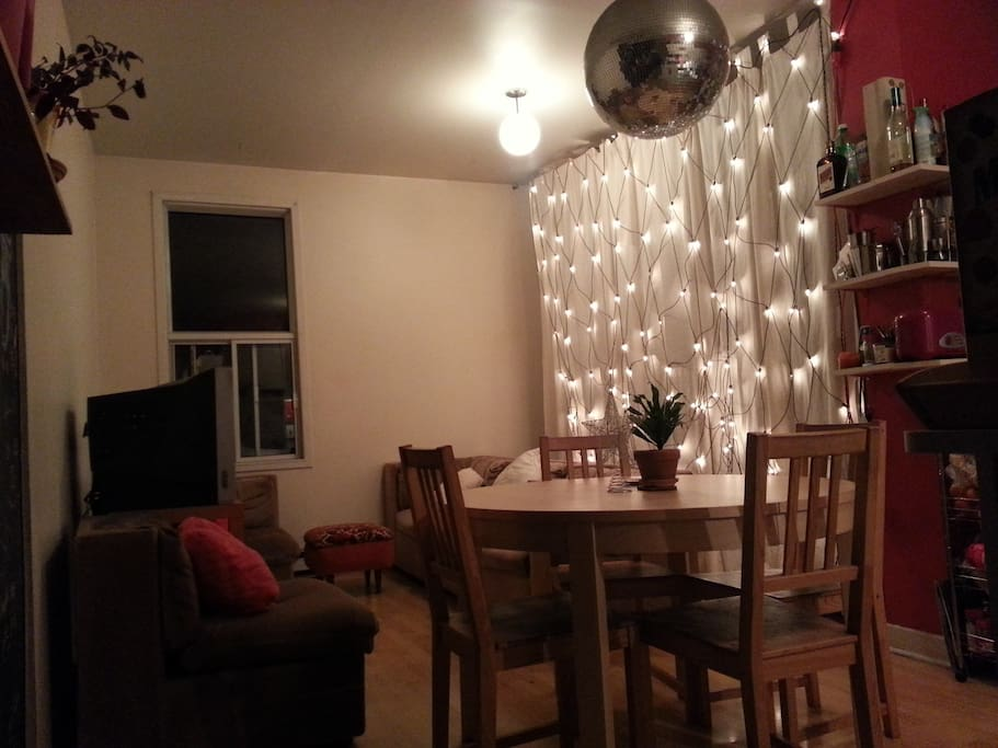 Our living room kitchen