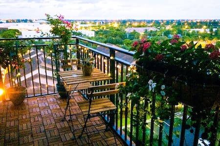 NEW! Luxury, comfort, & city view! - Plantation - Lejlighed