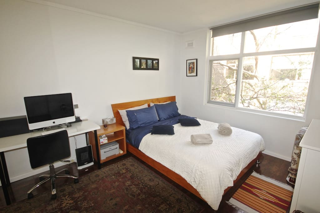 DOUBLE ROOM for 2 people - A large clean & tidy room with a very comfortable bed and new bed sheets. (You will get this room when you book for 2 people)