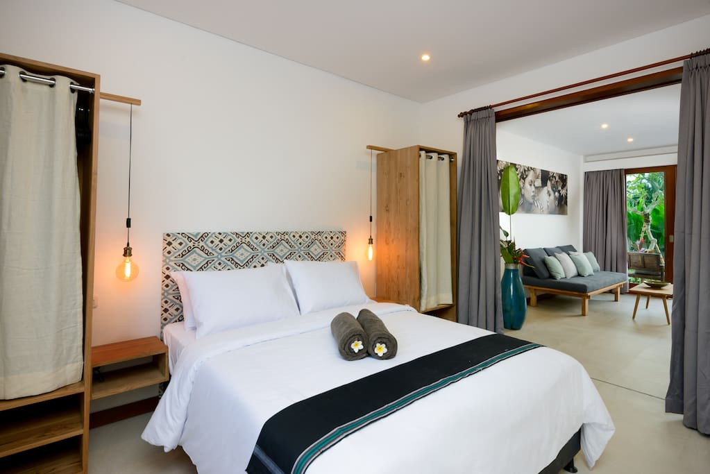 Comfortable and quiet bedrooms with indonesian touch