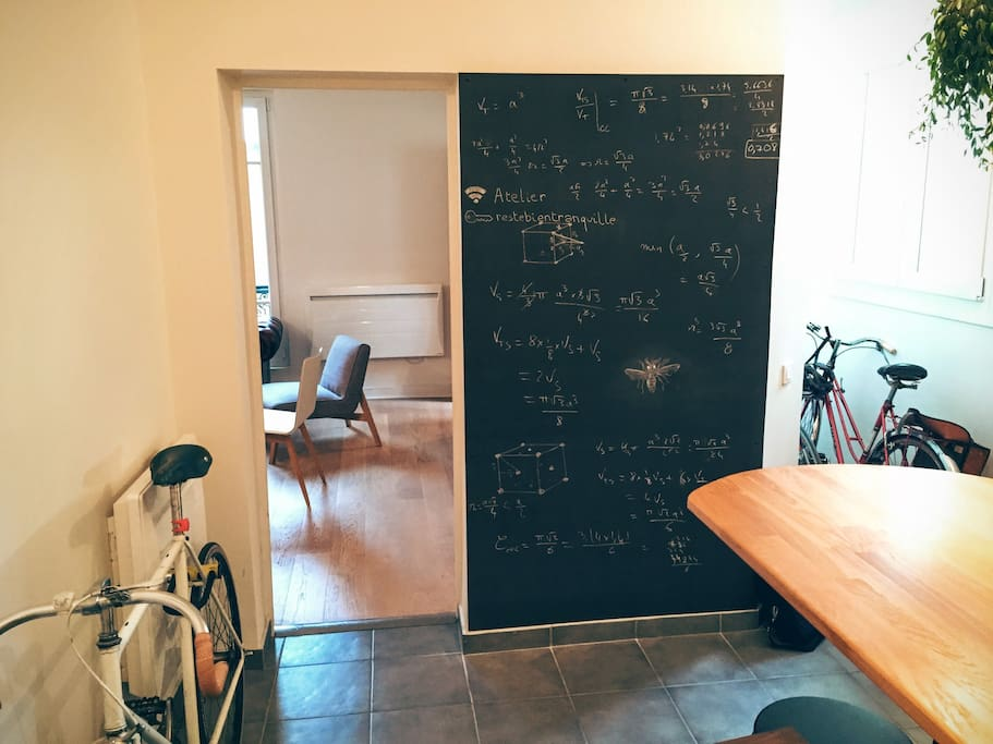 Leave us a word or an equation on the blackboard before leaving, we put it here for you to be creative