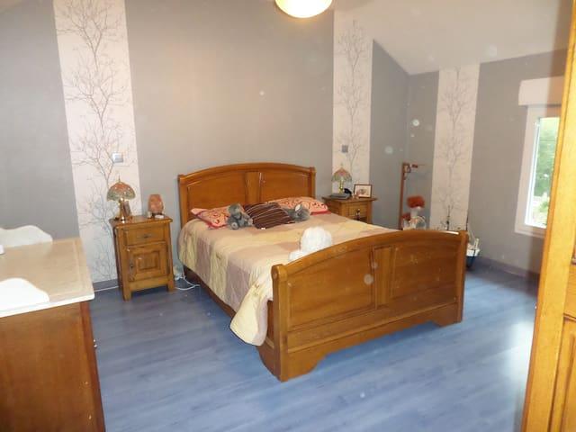 Grande chambre confortable - Montcy-Notre-Dame - House