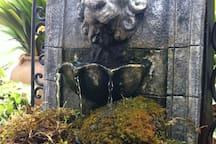 Small fountain in patio