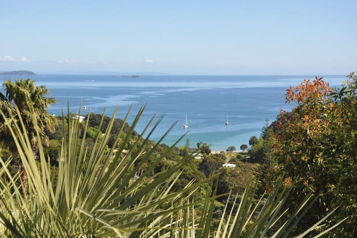 VIEW DOWN TO PALM BEACH AND THE ISLANDS BEYOND FROM YOUR PRIVATE DECK.