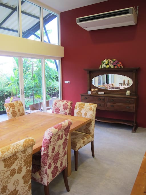 Dining room by the garden