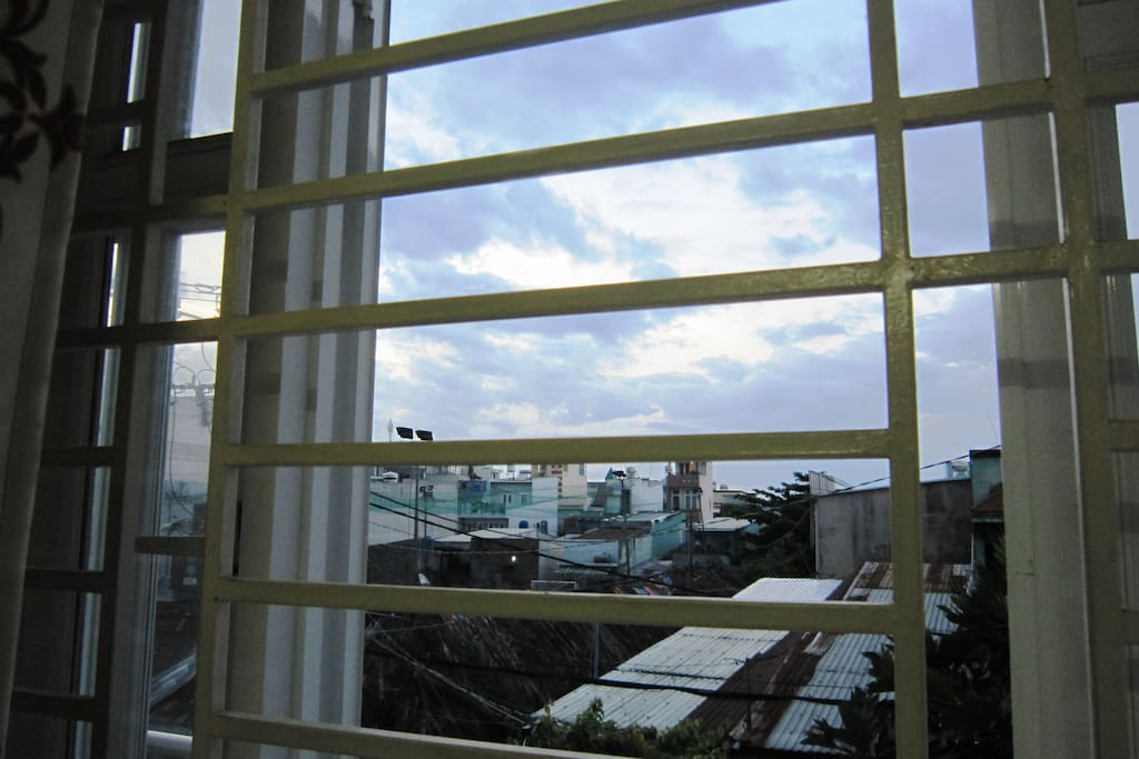 view to balcony of private room