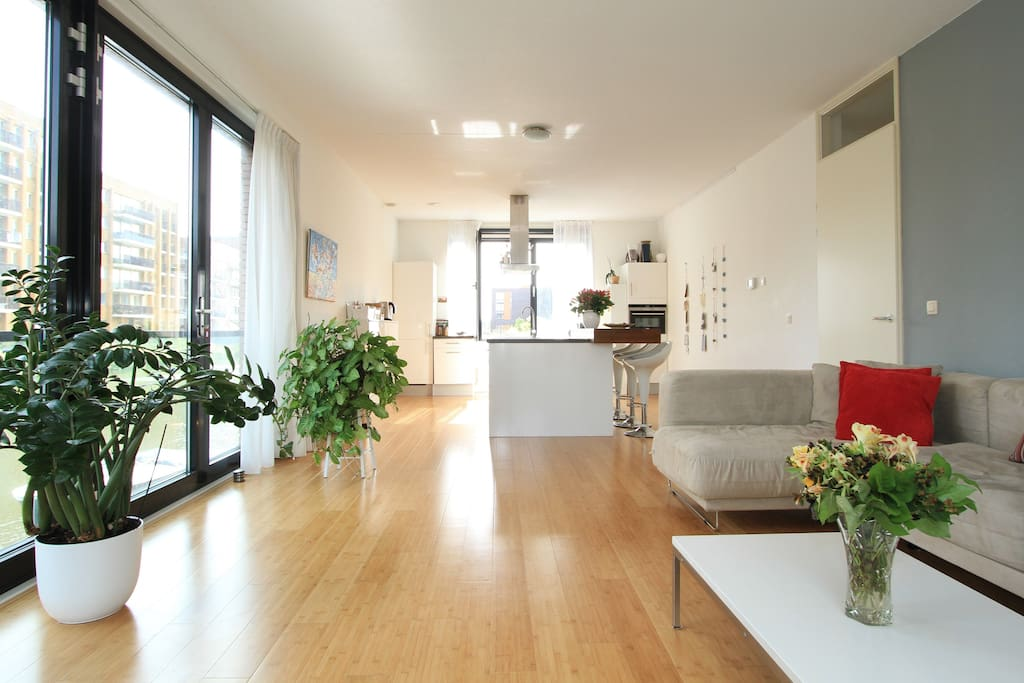 Overview of living room / kitchen