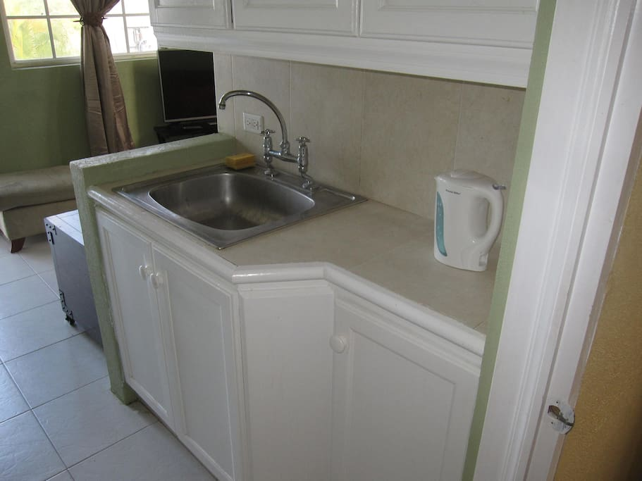 Sink in the kitchen area
