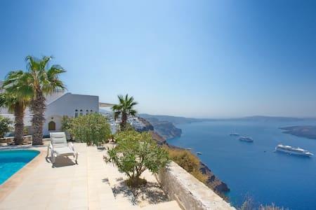 UNIQUE Caldera view villa Santorini (Firostefani) - Santorini