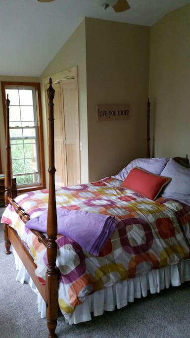 Upstairs Master with Full bed and ensuite