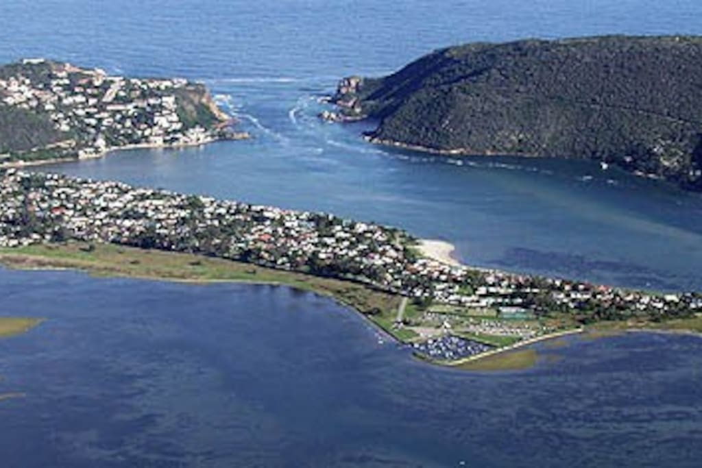 Aerial view of Leisure Isle