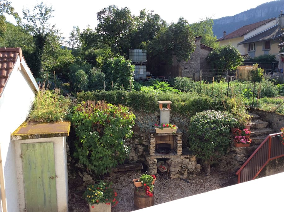 Vue sur le jardin suspendu