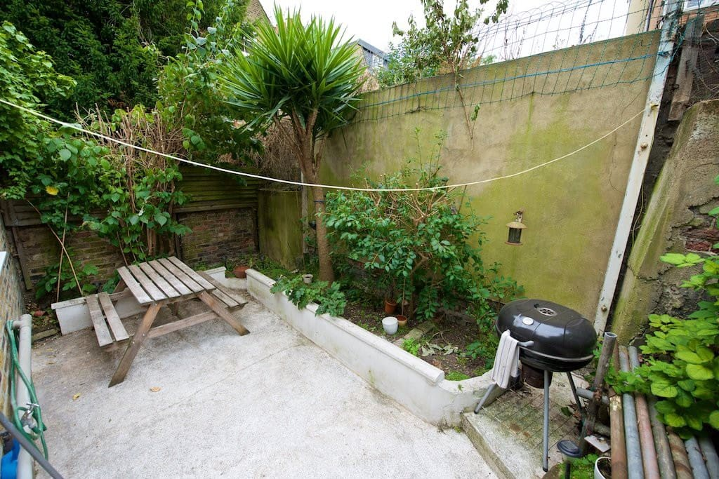 Nice green garden with BBQ