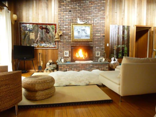 Boho Chic Hamptons room - Wainscott
