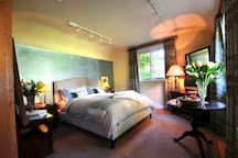 the spacious (comfortable and quite gorgeous I hope) bedroom, with some home comforts of your own living rooms...