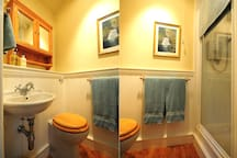 bathroom with toiletry touches and soft towels