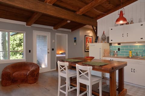 Open living space with a beachy cabin feel!