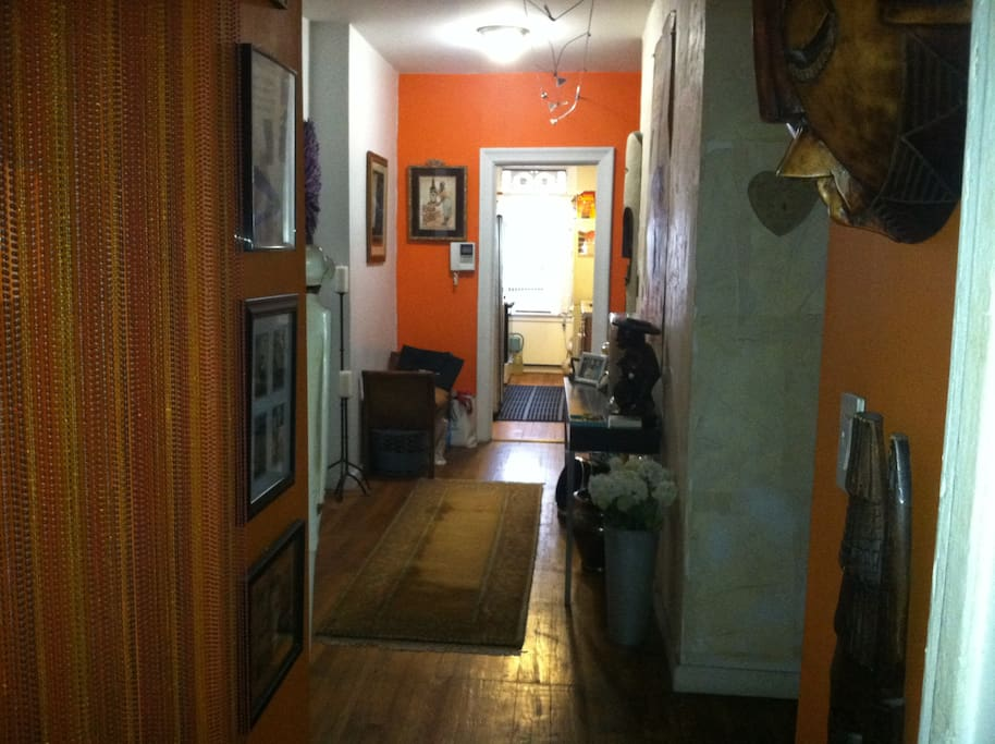 Entryway and kitchen