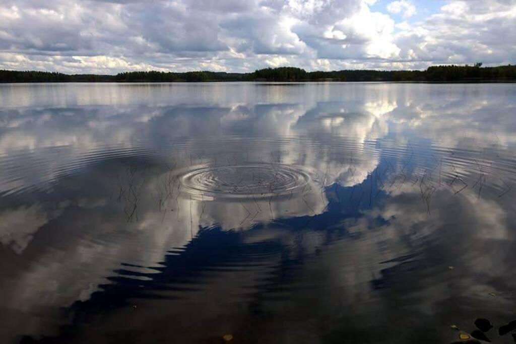 The place is on the lake Saarijärvi