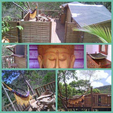La Cabane perchée avec spa privatif - Les Anses-d'Arlet - Cabaña