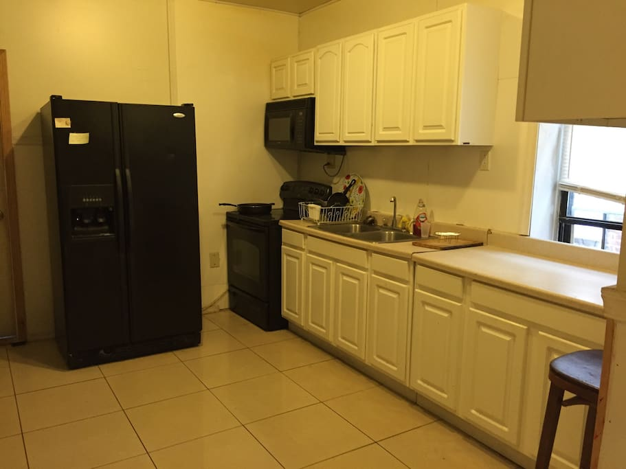Large kitchen on the 2nd floor with everything you need to get cooking.