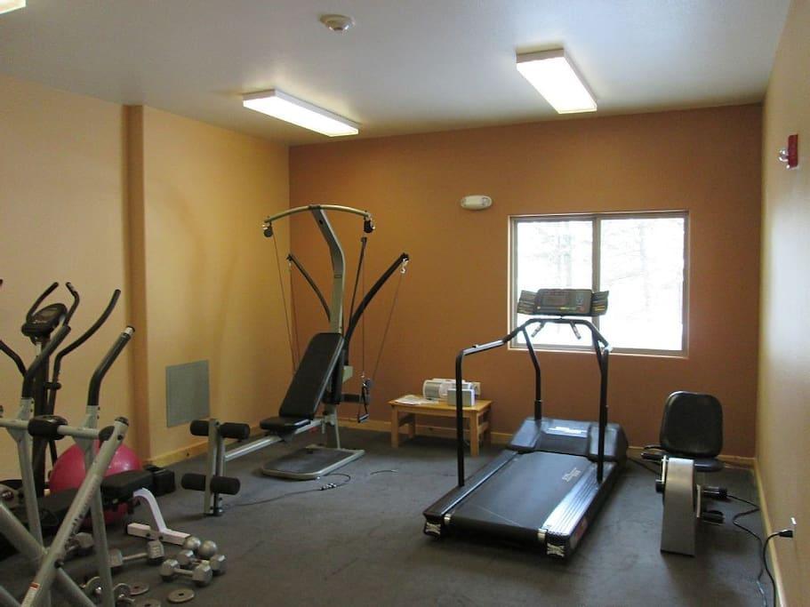 Common area; gym