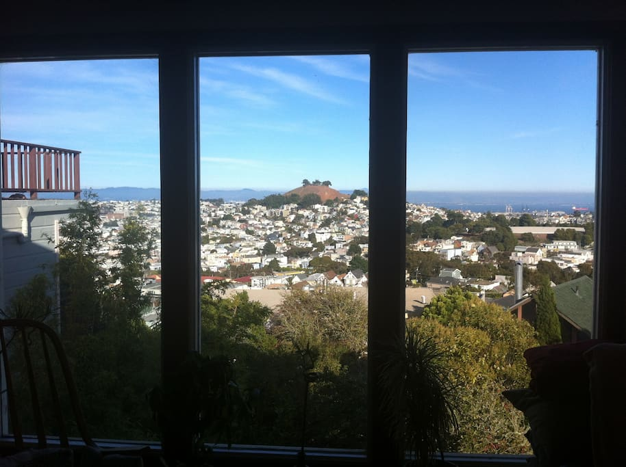 View of Bernal Hill and San Francisco Bay