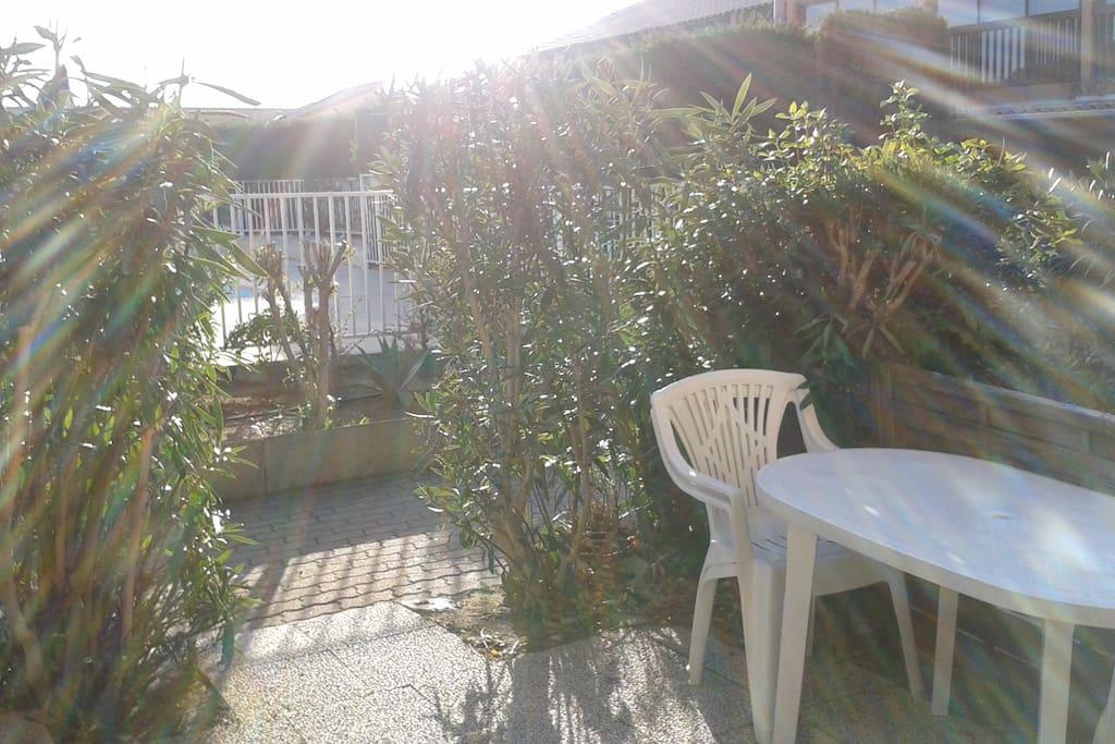 Terrasse en rez-de-jardin