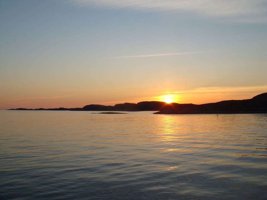 Kveldssola dett i havet