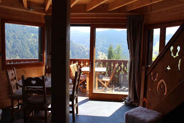 Cosy Chalet with stunning views - Les Gets - Alpstuga