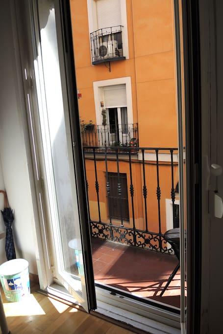balcon de la habitación