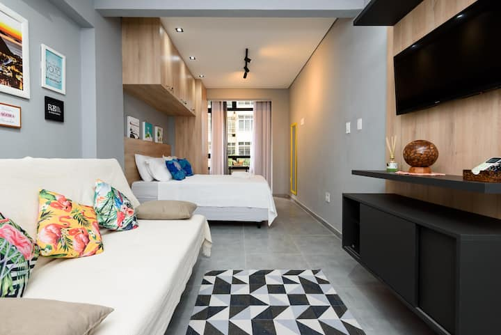 Mod /Cozy loft 2 blks away from the beach/subway