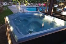 Year round hot tub.