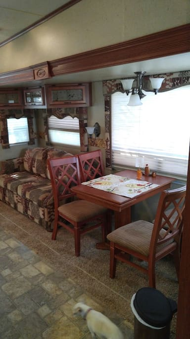 Dining area and couch