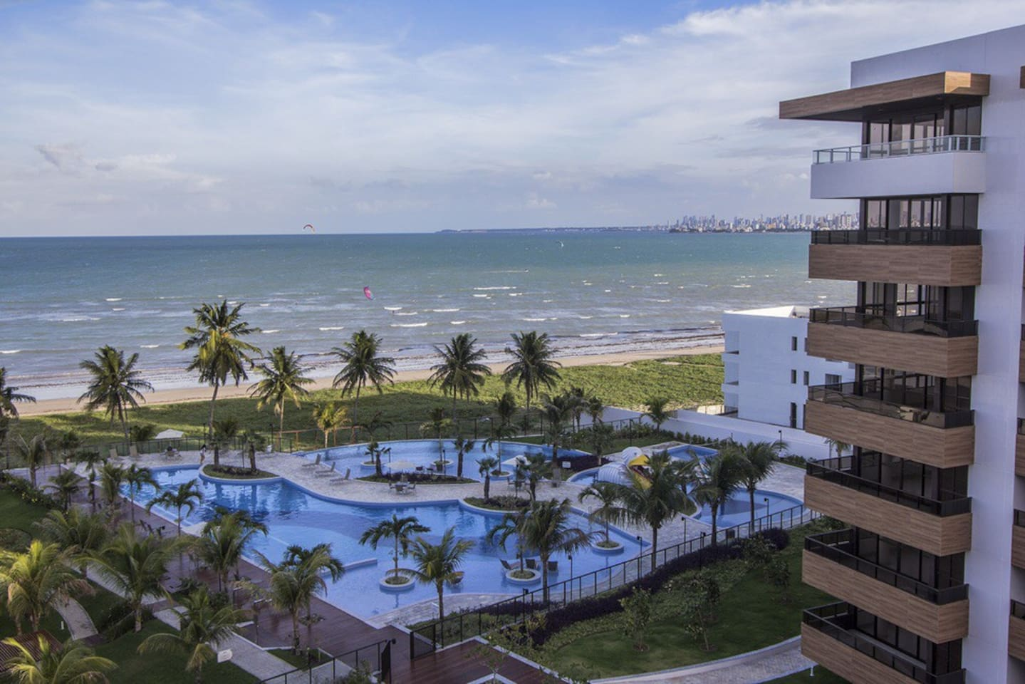 right by the Atlantic Ocean in an area that is perfect for windsurfers and bathers