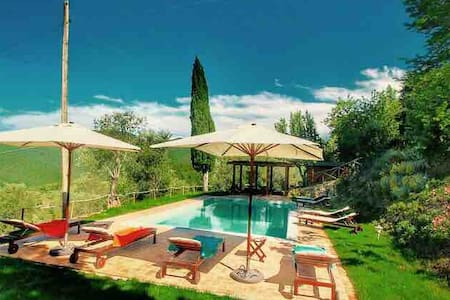 Romantic, Lake view Cottage for 2/4 Tuscany Umbria
