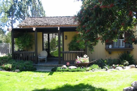 The Garden Cottage is a quiet, peaceful retreat in the country just 5 minutes north of the Claremont Village and Claremont Colleges. We offer top notch amenities in a traditional and comfy setting and have many returning guests who just love it here!