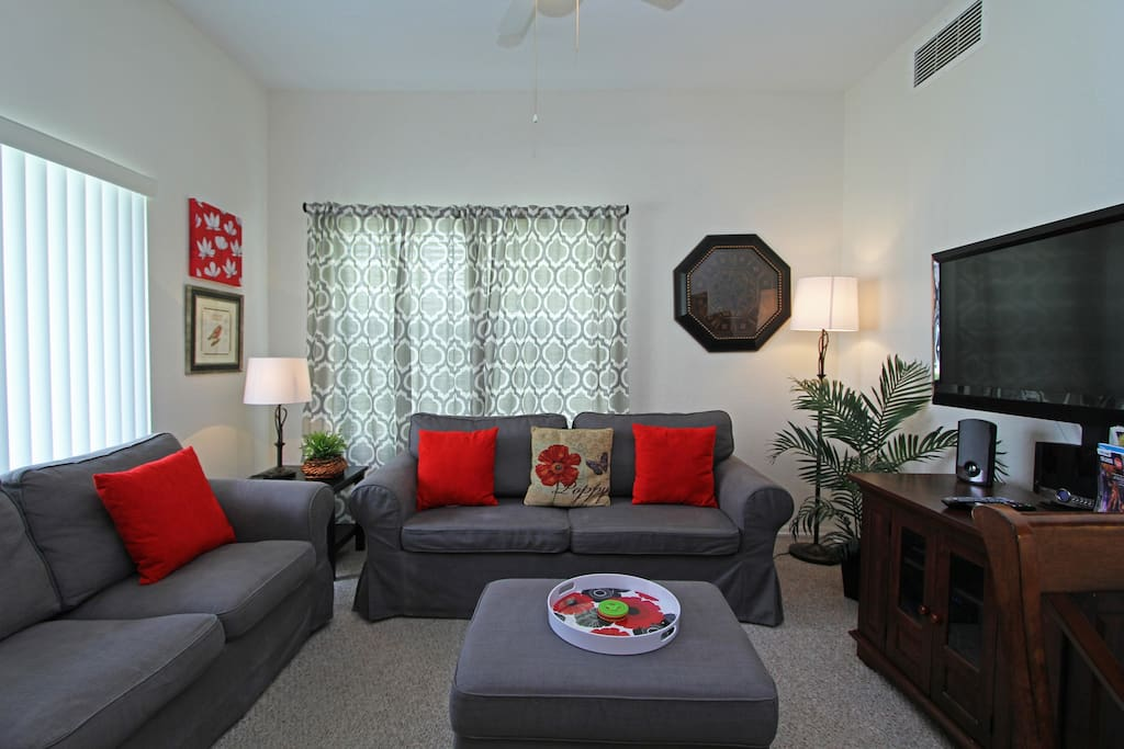 Spacious and comfortable living area