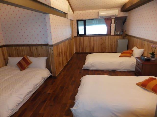 双人床*1+单人床*2